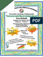 Gran Celebracion Conmemorando la Independencia de BOLIVIA