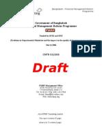 Draft Departmental Ministries