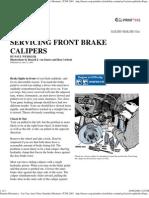 Popular Mechanics - Servicing Front Brake Calipers