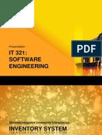 IT 321(Software Engineering) Presentation (1)