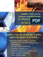 Analisis Critico de Un Articulo Cientìfico