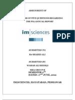 Pia Assigment of 5 Qs, Statistics