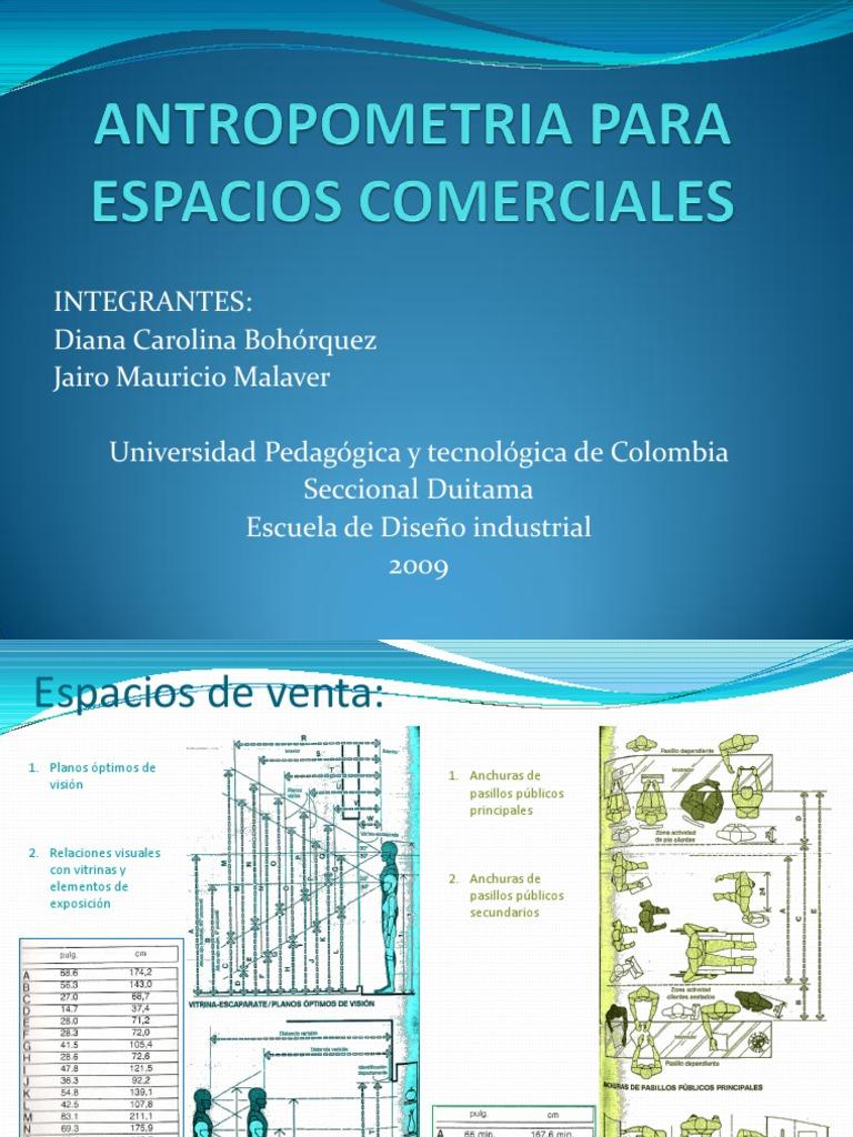 Antropometria para espacios comerciales for Antropometria libro