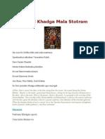 Sri Devi Khadga Mala Stotram