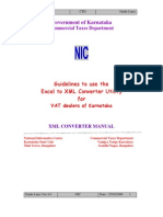 Guidelines Excel to XML Converter
