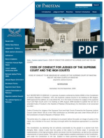 Code of Conduct for Judges of the Supreme Court and the High Courts