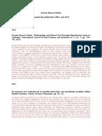 Hancart Résumés des publications 2004-dec 2011