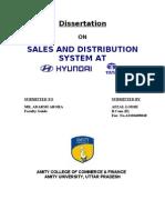 2974. Sales and Distribution System at Hyundai & Tata Motors