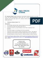 Lowongan Kerja PT Indotruck Utama