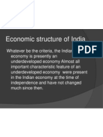 Economic Structure of India