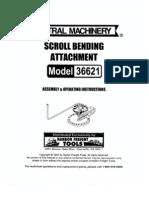 Scroll Bending Attachment Model 36621