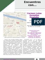 Encuentros Con Carmen Luisa Glez Exposito 29 Junio