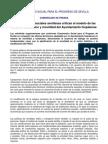 COMUNICADO DE PRENSA SOBRE MOVILIDAD Y URBANISMO DE COMPROMISO SOCIAL PARA EL PROGRESO DE SEVILLA