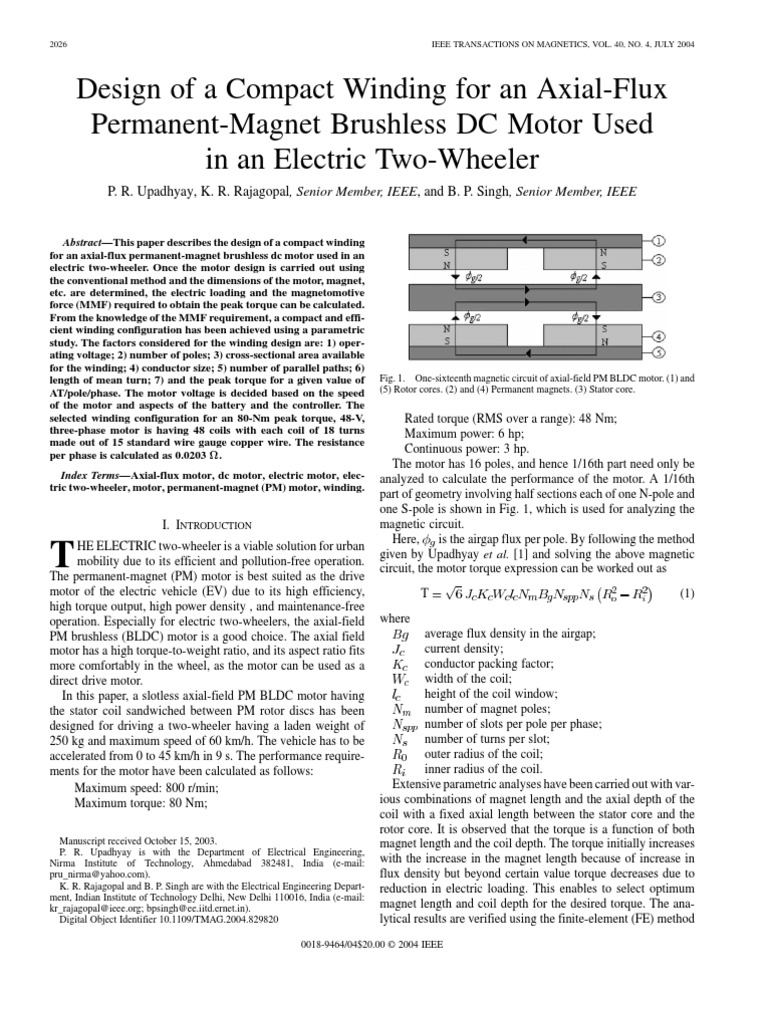 Design of a Compact Winding for an Axial-Flux Permanent-Magnet
