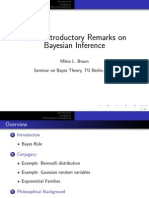 Some Introductory Remarks on Bayesian Inference