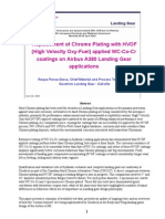 Replacement of Chrome Plating With HVOF Goodrich