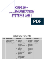 CU9216 – COMMUNICATION SYSTEMS LAB I