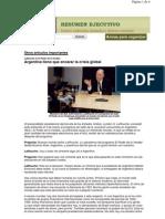 Argentina Tiene Que Encarar La Crisis Global