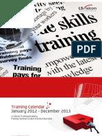 LS Brochure Training Calendar 2012-13