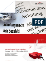 LS Brochure Training Calendar GermanEdition