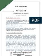 Al Fawaid - Anmerkungen Des Nutzens
