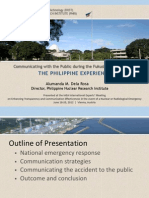 dela Rosa - Experience in Communicating with the Public during the Fukushima Nuclear