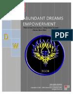 Abundant Dreams Manual English