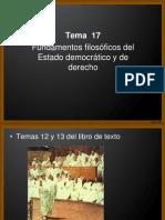 Tema 17 Democracia y Estado de Derecho