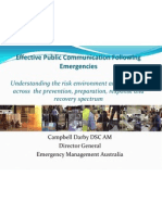 Darby - Effective Public Communication Following Emergencies