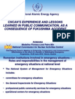 Florescu - CNCAN'S EXPERIENCE AND LESSONS LEARNED IN PUBLIC COMMUNICATION, AS A CONSEQUENCE OF FUKUSHIMA ACCIDENT