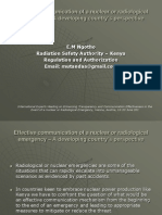 Ngotho - Effective communication of a nuclear or radiological emergency – A developing country's perspective (Kenya)