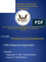 Ramsey - USNRC APPROACH TO EFFECTIVE COMMUNICATIONS WITH INTERNATIONAL COUNTERPARTS