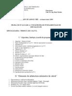 Programa Licenta Colegiu Info 2006