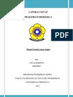 laporan praktikum Titrasi Formal
