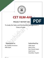 Sdm Report on TOI