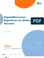 Electronic Signatures Medical Records