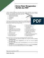 Praktikum Sistem Pakar MySQL Dan PHP