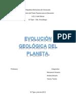 Ciencia Dela Tierra Evolucion Geologica