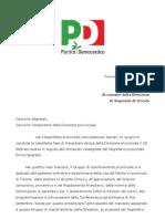 Lettera Segreteria PD Giu 2012