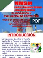 ELABORACION Y EVALUACION DE PROYECTOS  - CLASE Nº 07