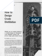 How to Design Crude Distillation Watkins 1969