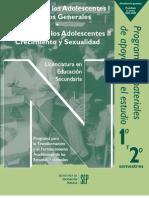 Programa Desarrollo de Los Adolescentes II. Crecimiento y Sexualidad