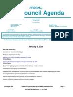 January 6 2009 Council Agenda