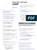 Cheat Sheet - Desarrollo Con PHP