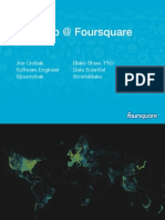 Hadoop @ Foursquare