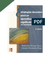 Frida Díaz Barriga Arceo (1999). Estrategias Docentes para un Aprendizaje Significativo