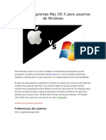 Guía de programas Mac OS X para usuarios de Windows