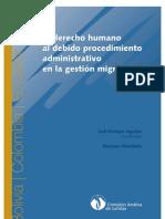 El derecho humano al debido procedimiento administrativo en la gestión migratoria