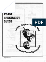 New Unit Team Specialist Guide