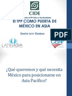 El TPP como puerta de México en Asia.Simon Levy